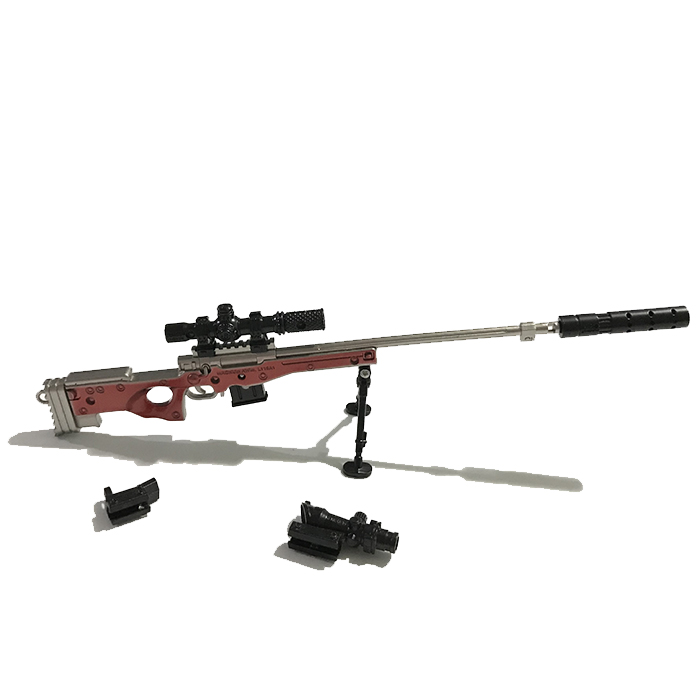 AWP Red 25cm Metal Sök-Tak Model Silah