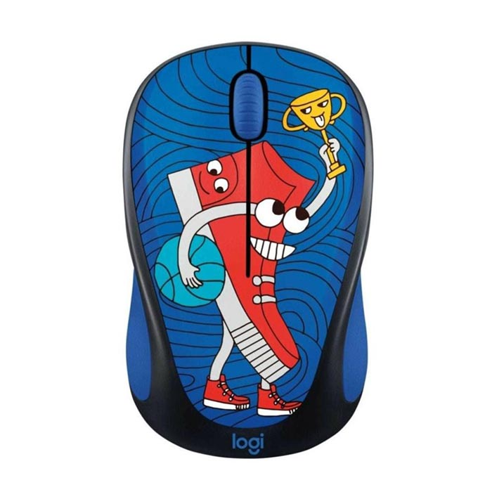 Logitech M238 Kablosuz Mouse The Doodle Collection Sneaker Head